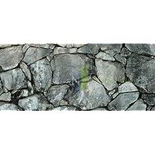 "Dark Silver Rock / Stone Aquarium Background 18"" x 48"" / 55 FGallon / Rocky Fish Tank Background"