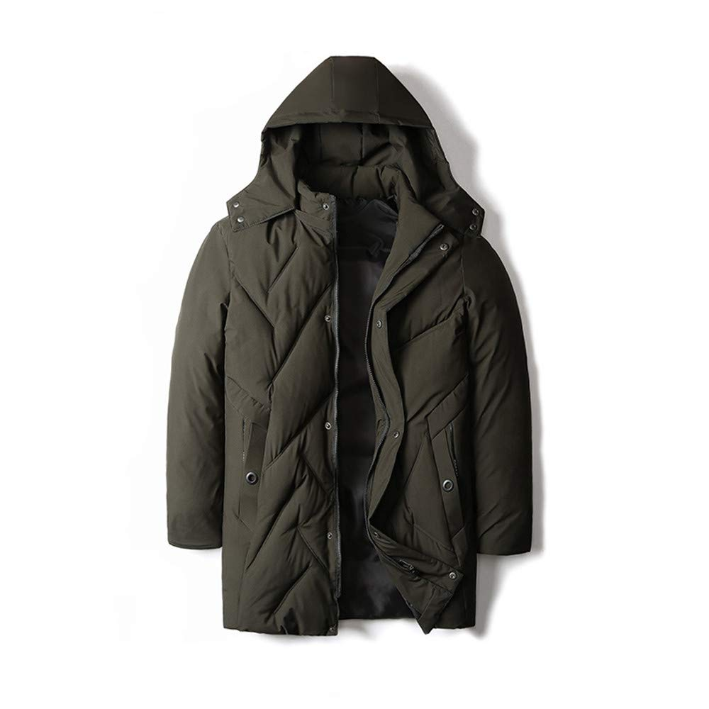 YKARITIANNA Men Solid Quilted Coats, Roomy Autumn Winter Warm Casual Pocket Zipper Hoodie Thermal Top Coat for Men Super Soft by YKARITIANNA Mens Tops