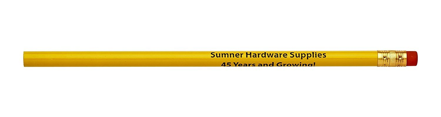 Pencil Guy Personalized Imprinted Round Pencils.-500 per box School Bus Yellow