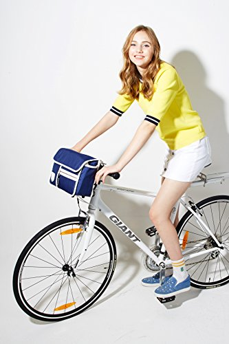 Blue Handlebar Goodordering Shoulder Goodordering Bicycle Bicycle Navy Cycling bag CSwvqW8