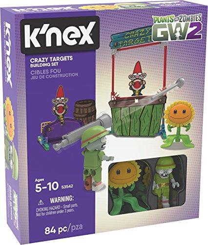 (K'NEX Plants Vs Zombies Crazy Targets Building Set Building Kit, Varies by Model)