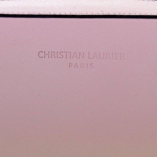 Christian Laurier - Sac à main en cuir modèle Annie rose - Sac à main Bowling haut de gamme fabriqué en Italie en cuir véritable