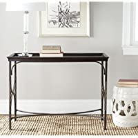 Safavieh American Homes Collection Immingham Dark Walnut and Antique Pewter Console Table