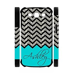 Personalized Turquoise Chevron Pattern(NOT GLITTERY) Samsung Galaxy S3 I9300 Best Durable PVC Cover Case
