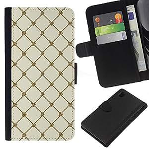 KingStore / Leather Etui en cuir / Sony Xperia Z1 L39 / Wallpaper Mar Vela nudo de la cuerda cuerda
