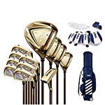 WYSTAO-Mens-Complete-Golf-Club-Set-with-Bag-Complete-Set-with-Bag-GraphiteSteel-Adjustable-Mens-12-Piece-Golf-Complete-Set