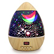 ANTEQI Awesome Night Light Baby Star Projector Multicolor Changing Lighting with Timer Auto Shut LED 360 Degree Starry Rotating Projection Lamp Gift for Kid Children Girl