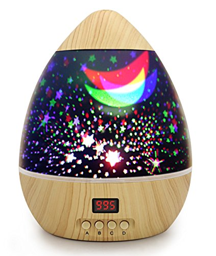 ANTEQI Awesome Night Light Baby Star Projector Multicolor Changing Lighting with Timer Auto Shut LED 360 Degree Starry Rotating Projection Lamp Gift for Kid Children Girl by ANTEQI