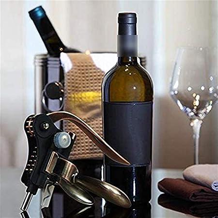 wsxc Sacacorchos de Vino, Tipo de Oreja de Conejo Que Ahorra el Acero Inoxidable con Cuchillo de lámina, Duradero, Utilizado en la Cocina Restaurantes y Bares