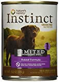 Instinct Limited Ingredient Diet Grain Free Rabbit Formula Natural Wet Canned Dog Food by Nature's Variety, 13.2 oz. Cans (Case of 12)