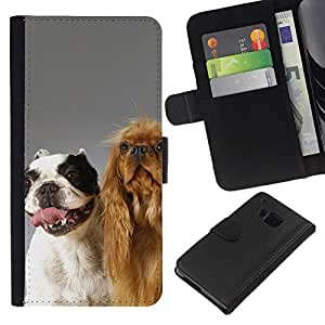 All Phone Most Case / Oferta Especial Cáscara Funda de cuero Monedero Cubierta de proteccion Caso / Wallet Case for HTC One M9 // The Happy Dog Friends