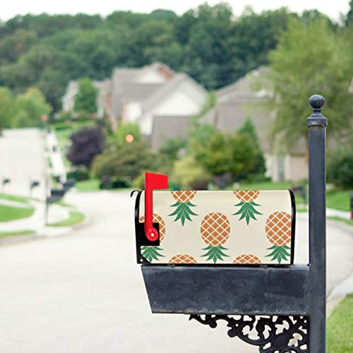 JGYJF Colorful Tropical Pineapples Mailbox Covers Standard Size Original Magnetic Mail Cover Letter Post Box 21