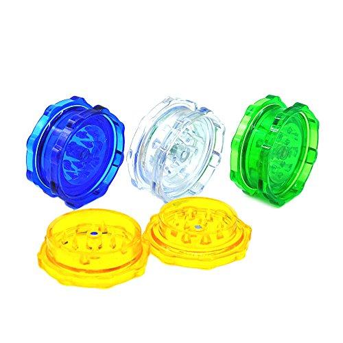 WensLTD 4-Layer Plastic Tobacco Herb Grinder Spice Crusher Grinder, Color Random (Blue) by WensLTD (Image #5)
