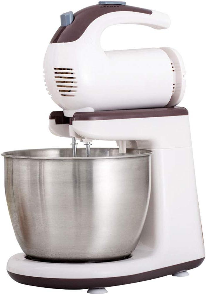 LCTDDQ Merengue Mullido de 300 vatios con tazón de Acero Inoxidable de 3 litros, con diseño Inclinado - Blanco (Color : 300W, Tamaño : 29.5 * 22CM)