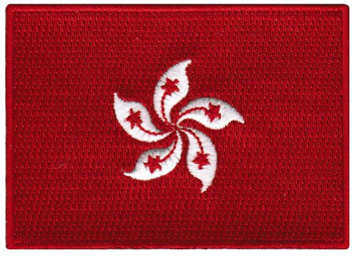 Hong Kong Flag Embroidered Patch China Iron-On National Emblem