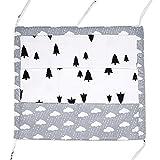 Bornbayb Cotton Baby Nursery Organizer Cartoon Bed Hanging Storage Bag for Baby Essentials