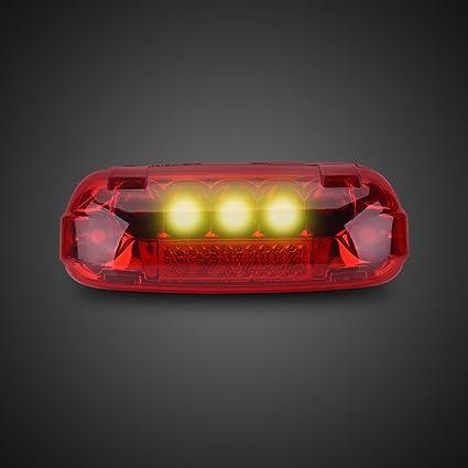 Luz Trasera de Bicicleta Eléctrica 36V LED Lámpara de Freno Luz de ...