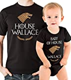 Dad and Baby Matching Shirts Game Of Thrones Shirts Last Name Personalized Matching
