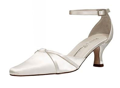 344b6cbe30e Ladies Ivory satin bridal bridesmaid wedding shoes size 4