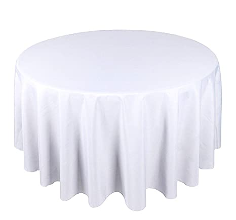 "WHITE 15 Pack of 132/"" Round High Quality Tablecloths"