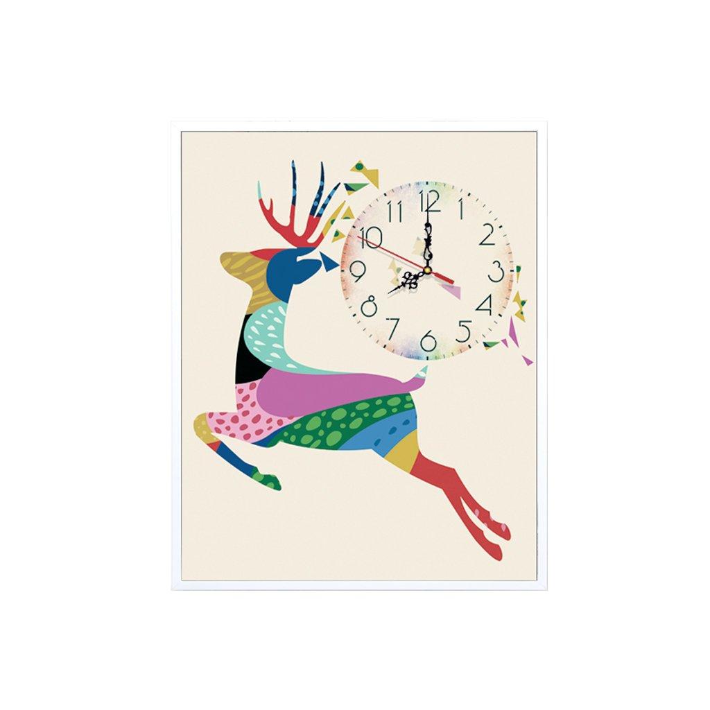 装飾的な背景クリエイティブアート絵画ウォールクロックアートマイクロフレームクリスタルクロックトリプルハンギングマイクロフレーム絵画の横バージョンリビングルームダイニングルーム (サイズ さいず : 40*50 cm) B07DYQTGZL40*50 cm