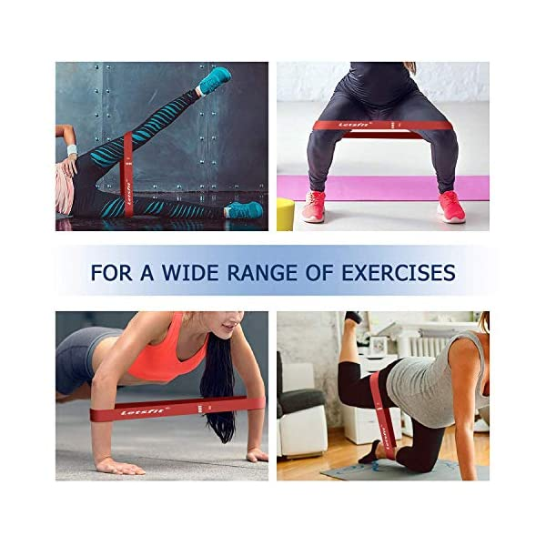 Letsfit Resistance Loop Bands Exercise For Home Fitness Stretching Strength Trai