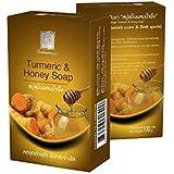BeautyBreeze Turmeric & Honey Natural Herbal Soap, Diminish Scars & Dark Spots 100g