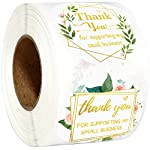 FANCY LAND Thank You for Supporting My Small Business Stickers Floral Appreciation Labels for Shops Homemade Crafts 2…