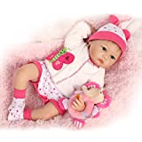 NPK Collection Reborn Baby Doll realistic baby dolls Vinyl Silicone Babies 22inch 55cm Doll Newborn real baby doll Life Like Reborn Pacifier Lovely red suit Doll