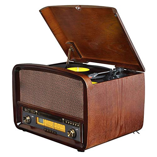 AGGL Gramophone Antique Phonograph LP Vinyl Record Player Vintage Record Player CD Player USB Radio