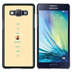 KLONGSHOP // Cubierta de piel con cierre a presión Shell trasero duro de goma Protección Caso - Divertido P0kemon - Samsung Galaxy A5 A5000 //