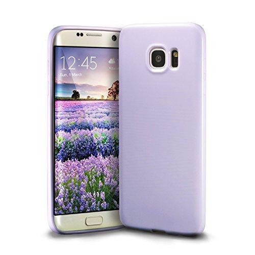Galaxy S7 Edge Lavender Case, technext020 Galaxy S7 Edge Case Silicone Protective Back Cover Slim Fit Samsung Galaxy S7 Edge Bumper