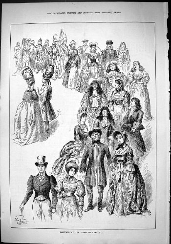 old-original-antique-victorian-print-sporting-dramatic-news-1884-costumes-healtheries-fancy-dress-jo