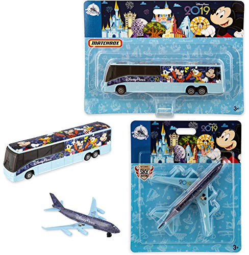 Take Off with Disney Matchbox Plane 2019 Theme Parks - 2019 Edition Matchbox Model Bus Transportation Exclusive Featuring Mickey Mouse and Friends Art Featuring Mickey, Donald, Goofy Die-Cast 2-Pack ()
