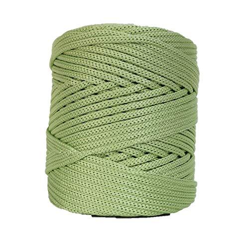 - Glossy Cord 130 Yards/Knitting Cord/Crochet Yarn/Novelty Yarn/Bulky Yarn/Polypropilene Yarn/Home Decor Yarn (Apple Green)