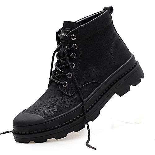 LOVDRAM Männer Schuhe Herbst Und Winter Dicke Herrenstiefel Herren Martin Stiefel Leder Herrenschuhe Hohe Hilfe Werkzeugschuhe Große Größe 47