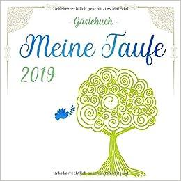 Meine Taufe 2019 Gästebuch Farbiges Gästebuch Und