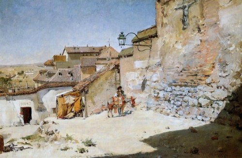 William Merritt Chase Sunny Spain - 24'' x 36'' 100% Hand Painted Oil Painting Reproduction by Art Oyster