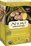 Numi Organic Tea, Decaf Ginger Lemon, Decaffeinated Green Tea, 16 Count non-GMO Tea Bags