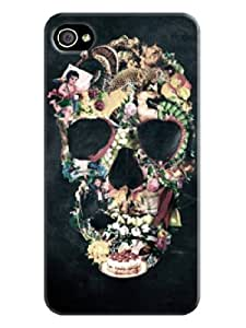 LarryToliver Beautiful Skull Background image logo perfect Protector Cases for iphone 4/4s Cases #5