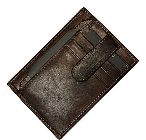 Schöne praktische Leder Braunes Leder-Portemonnaie für Herren PT018 Cafe