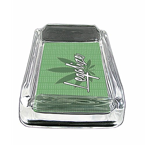 Vintage-Marijuana-Art-S7-Glass-Square-Ashtray-4x3-Sturdy-Cigarette-Smoking-420-Classic-Weed-Images