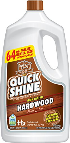 Quick Shine High Traffic Hardwood Floor Luster and Polish, 64 oz. Refill Bottle ()