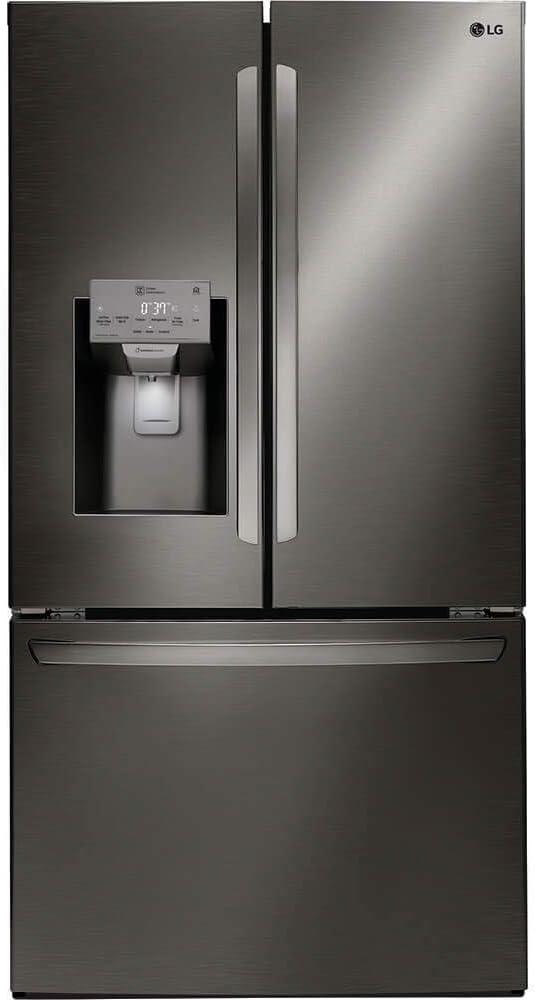 LG LFXC22526D 22 Cu. Ft. Black Stainless Counter Depth French Door Refrigerator