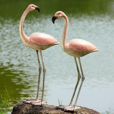 Flamboyant Flamingos Garden Pair by SPI Home
