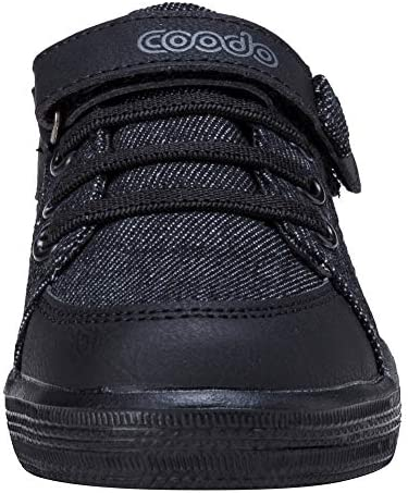 COODO CD3002 Toddler Little Kids Boys Girls Sneakers Walking Running Sports Shoes All BLACK-10