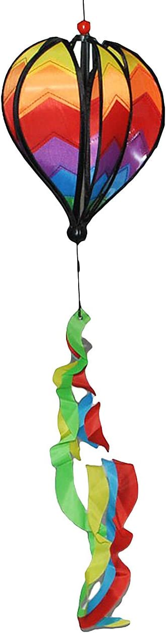 Satorn 85 cm Set Windspiel Balloon mit Spirale Twister Ballon Windm/ühle Windr/äder Ballon // Hei/ßluftballon alles-meine.de GmbH 2 TLG Wetterfest f/ür Au/ßen Windspiele..