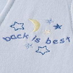 HALO SleepSack 100% Cotton Wearable Blanket, Baby Blue, Large