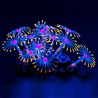 Uniclife Glowing Effect Artificial Coral Plant for Fish Tank, Decorative Aquarium Ornament by Uniclife