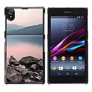 LECELL -- Funda protectora / Cubierta / Piel For Sony Xperia Z1 L39 C6902 C6903 C6906 C6916 C6943 -- Nature Calm Lake --